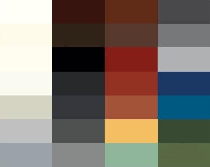 greencoat color chart